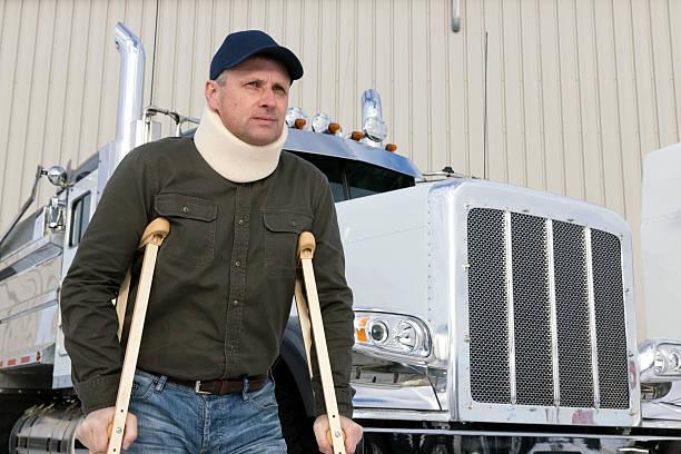 Lastwagenfahrer Verletzungen – Foto