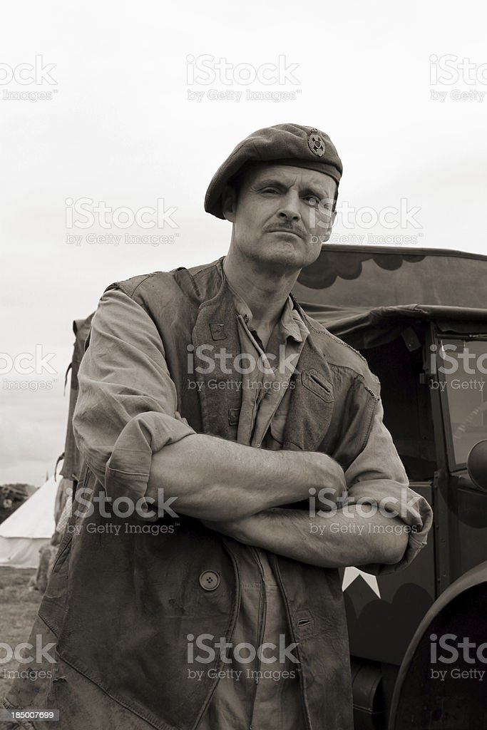 WW2 Truck driver. stock photo