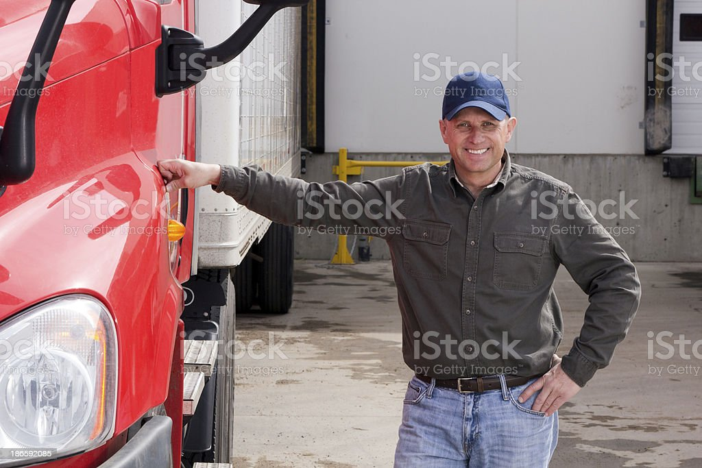 Truck Driver royalty-free stock photo