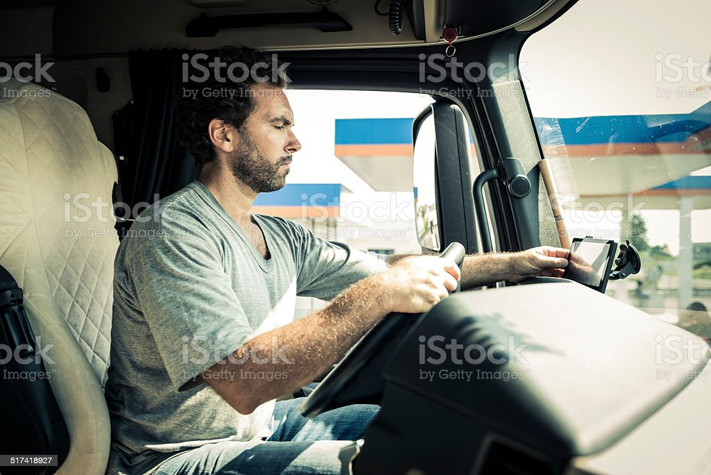 Truck Driver stock photo