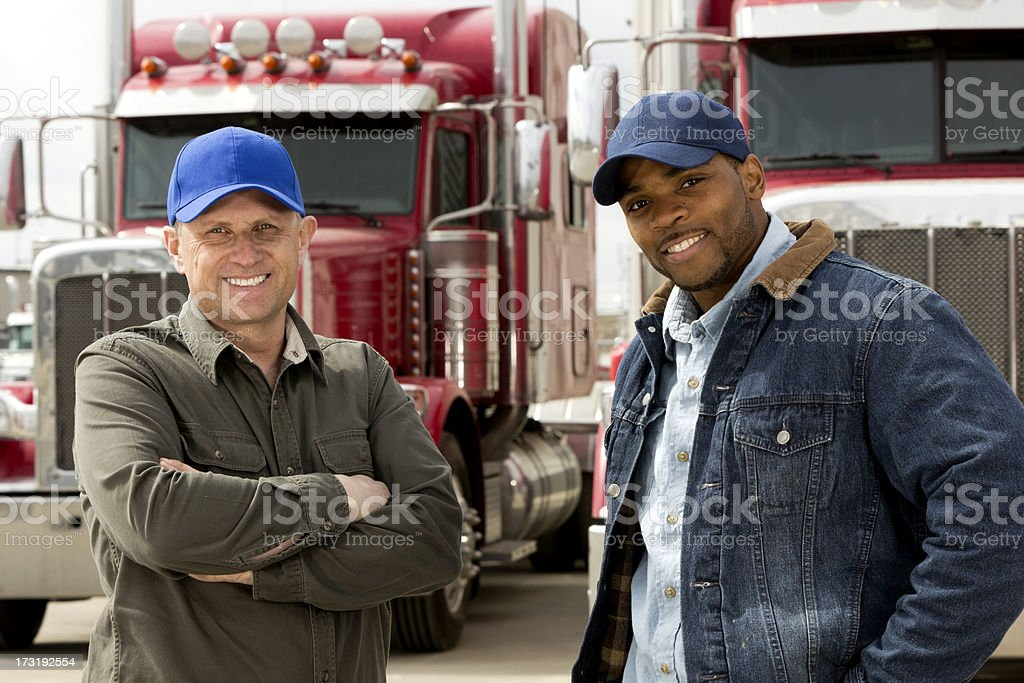 Truck Driver Team stock photo