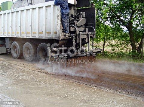 Truck emulsion bitumen