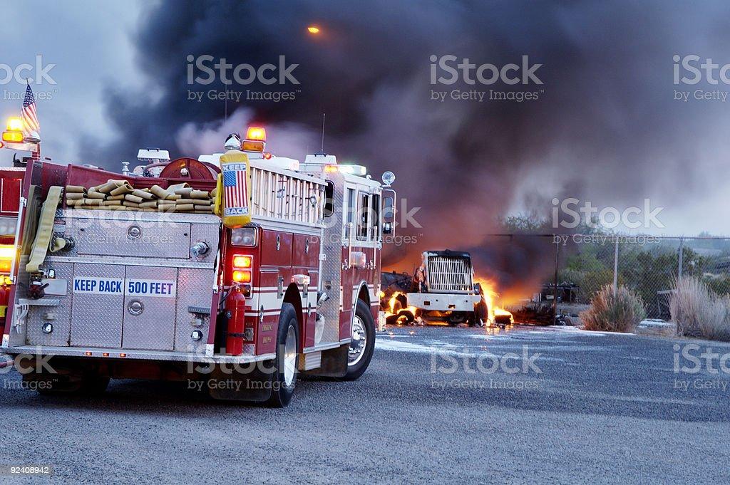 Truck Fire 4 stock photo