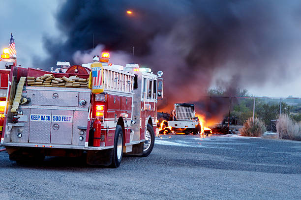 truck fire 4 - dept stock pictures, royalty-free photos & images