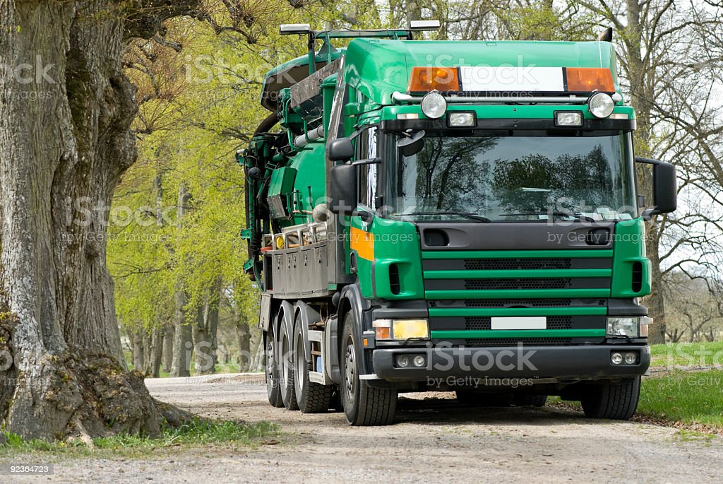 Truck for sewer cleaning royalty-free stock photo
