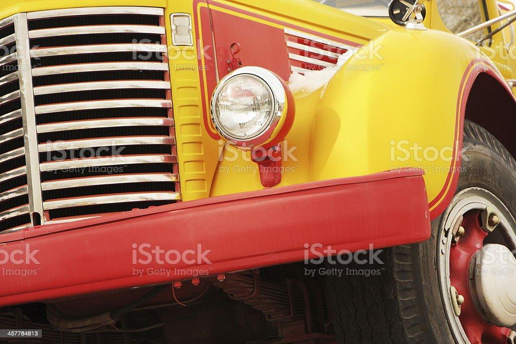 Truck Grille Headlight Bumper Fender Wheel stock photo