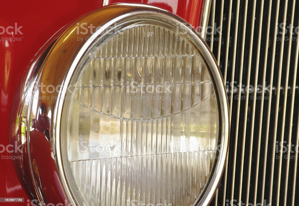 Truck Headlight Vintage stock photo