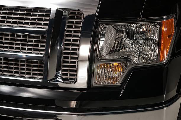 Truck Headlights stock photo