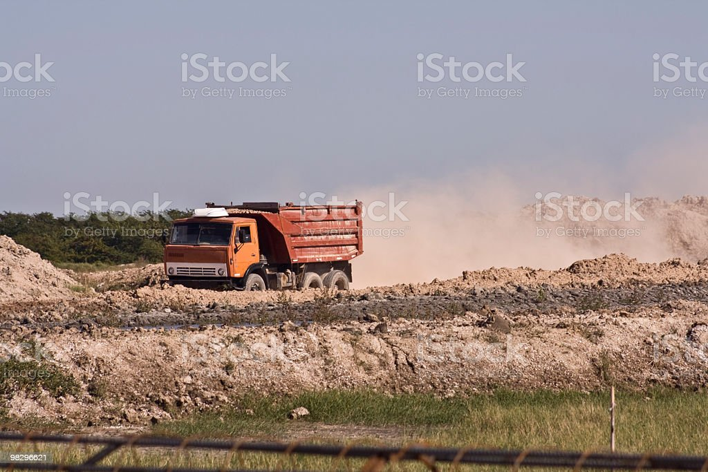 Truck in action royalty-free stock photo