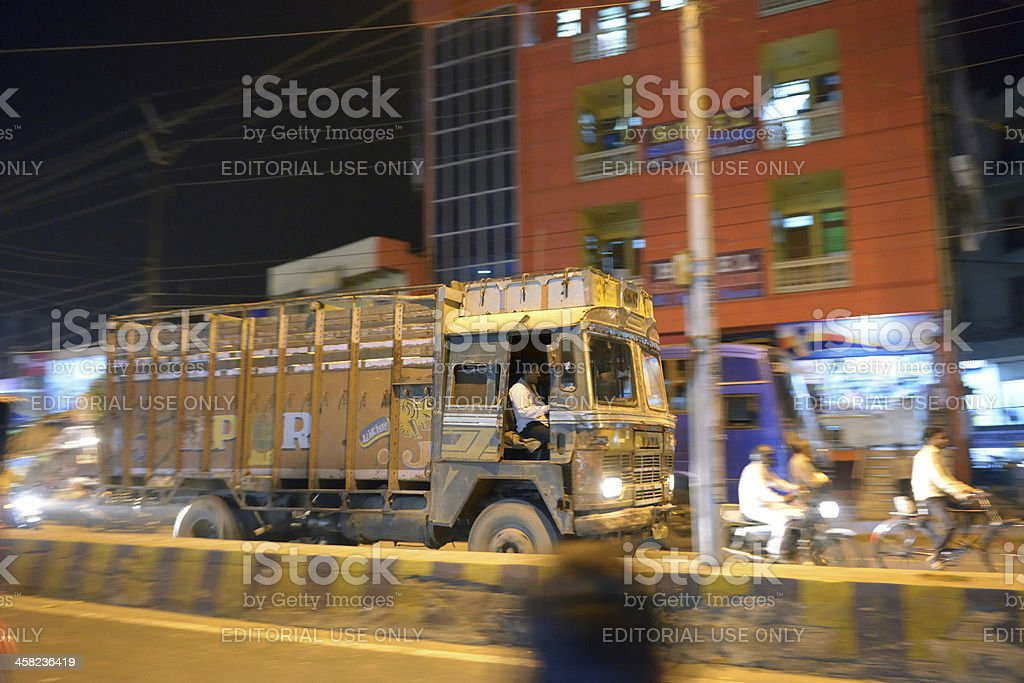 Truck in Agra royalty-free stock photo