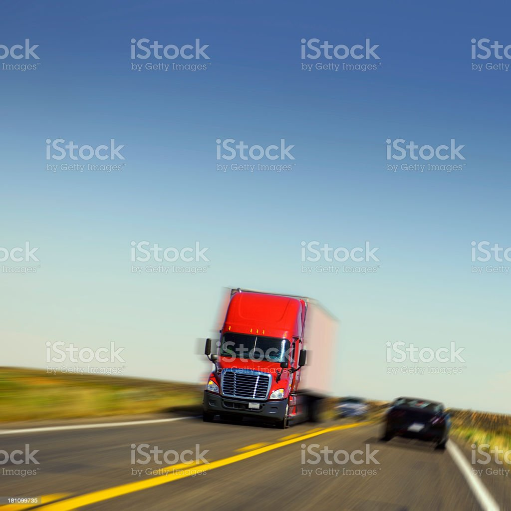 Truck in Highway, California, USA royalty-free stock photo