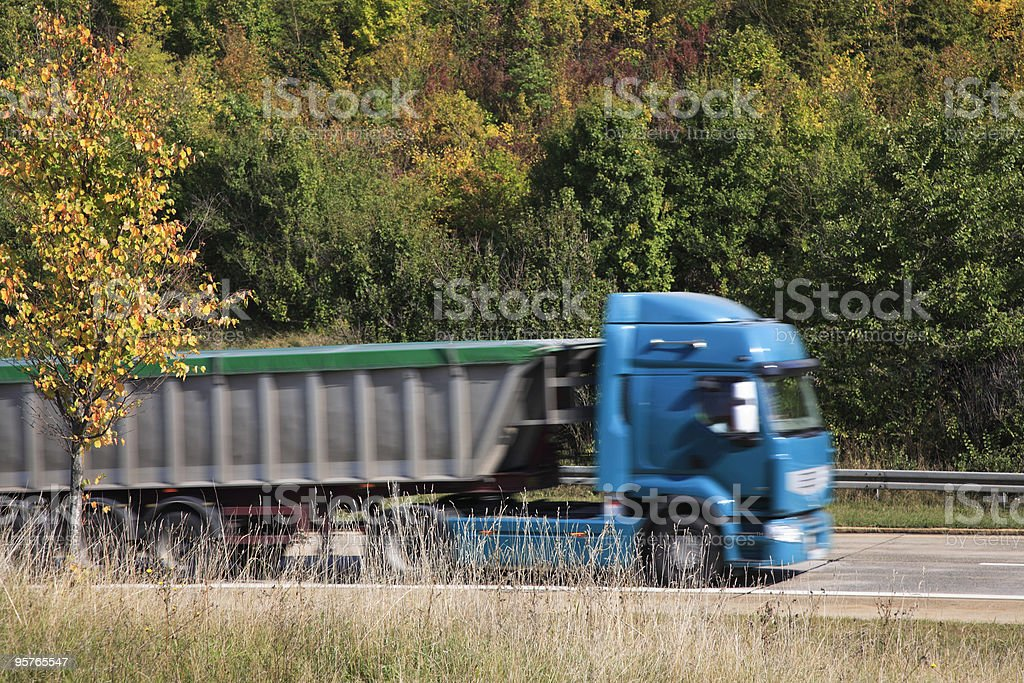 Truck in Motion royalty-free stock photo
