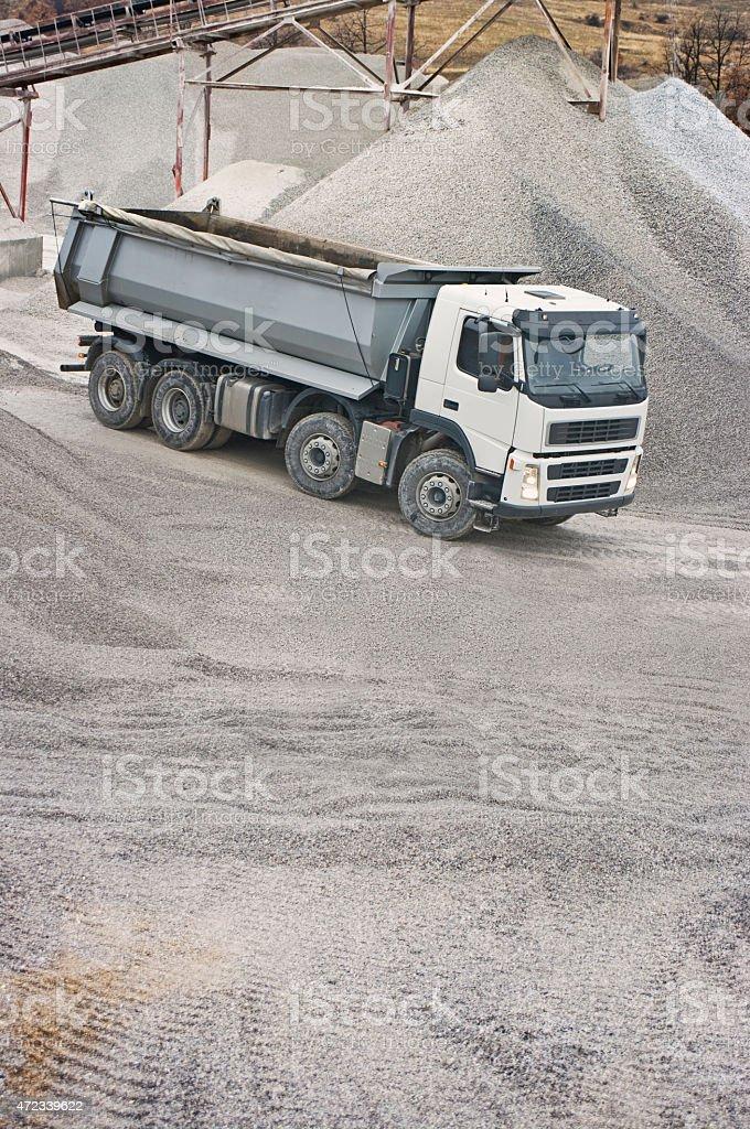 Truck in quarry stock photo