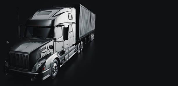 truck  in the studio room . stock photo