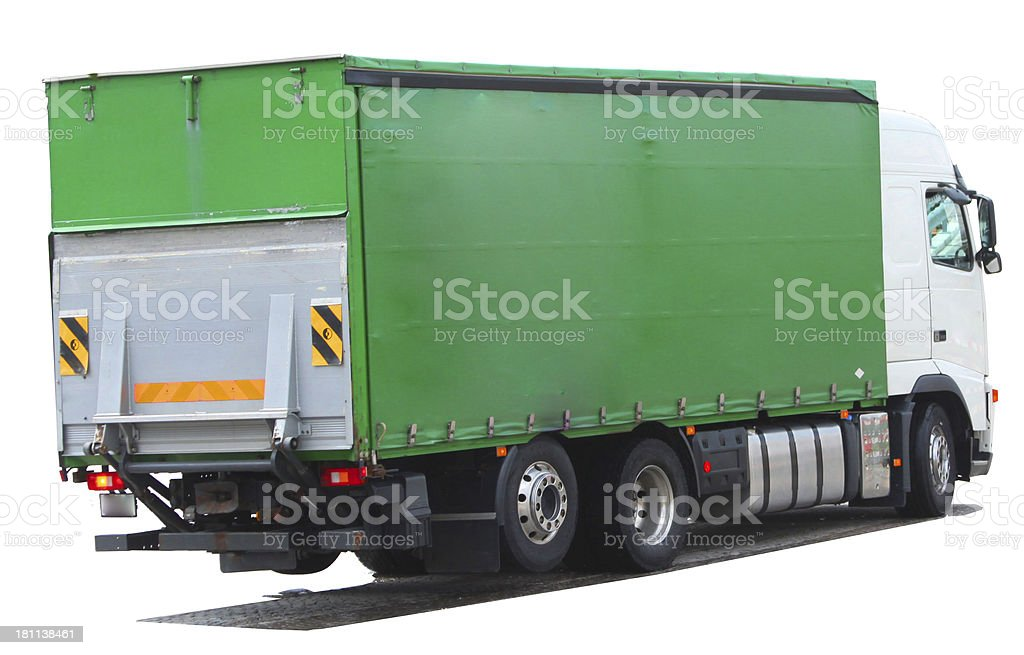 Truck, Isolated on white royalty-free stock photo