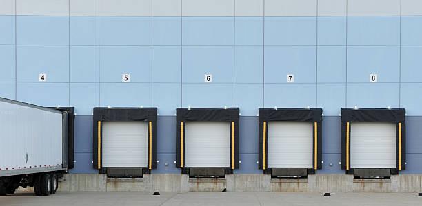 Truck Loading Dock stock photo