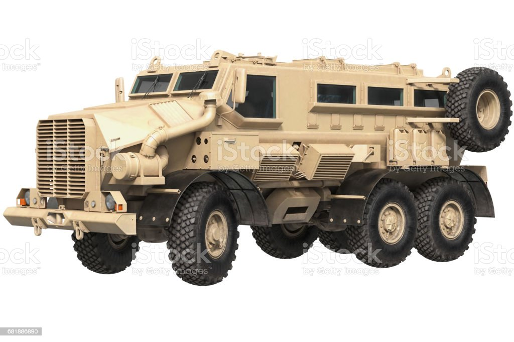 Truck military armored car stock photo