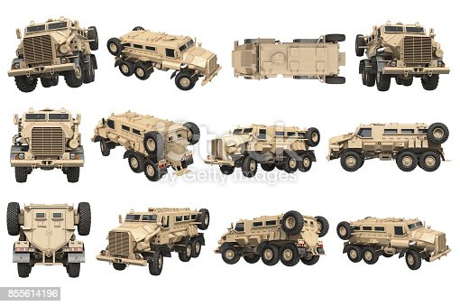 istock Truck military army transport set 855614196