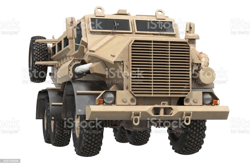 Truck military beige car stock photo