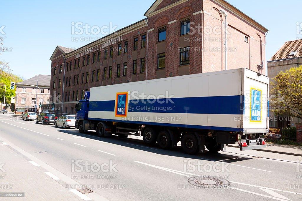 Camión de Aldi Süd - foto de stock