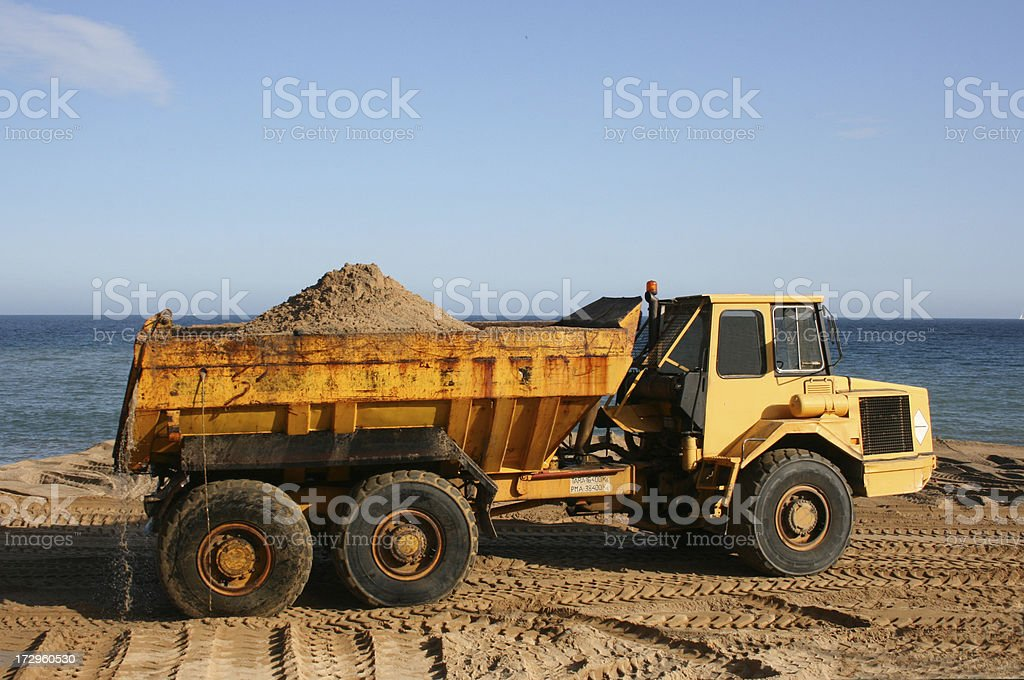 truck of sand royalty-free stock photo