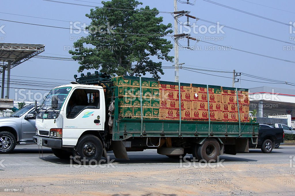 Truck of Thai Beverage Public Company Limited stock photo