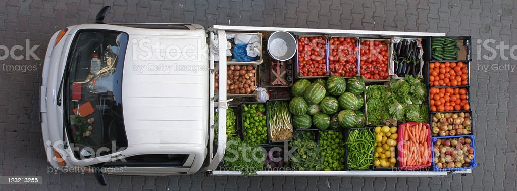 Truck of vegetables. royalty-free stock photo