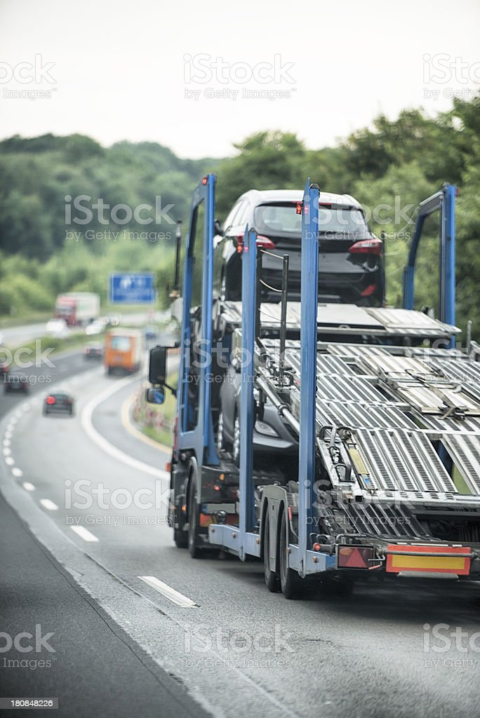 Truck on a german highway royalty-free stock photo