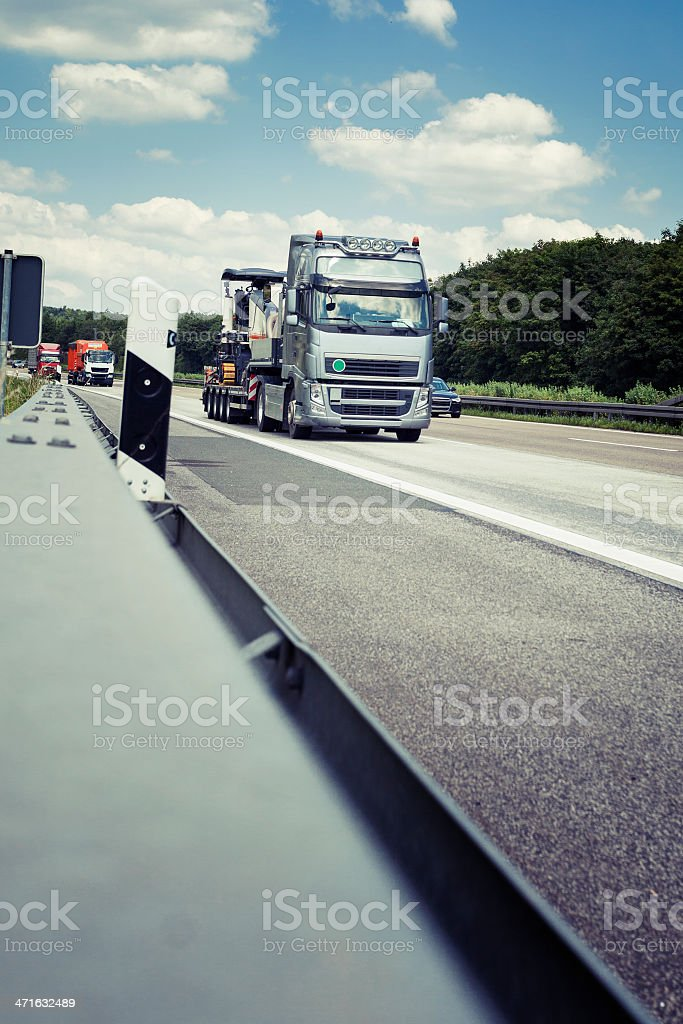 Truck on highway royalty-free stock photo