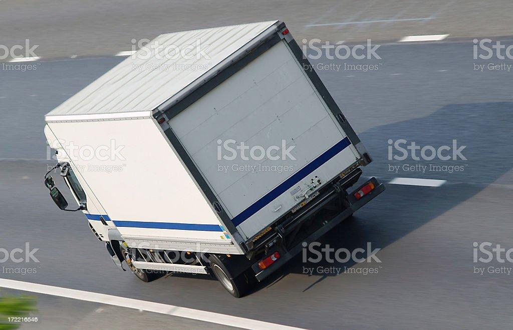 Truck on Motorway royalty-free stock photo