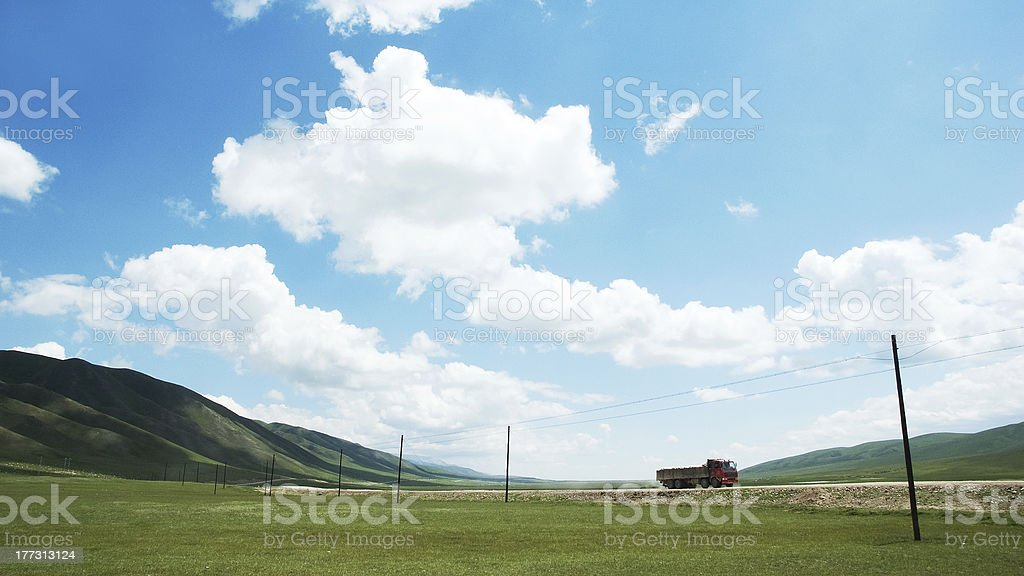 truck on road royalty-free stock photo