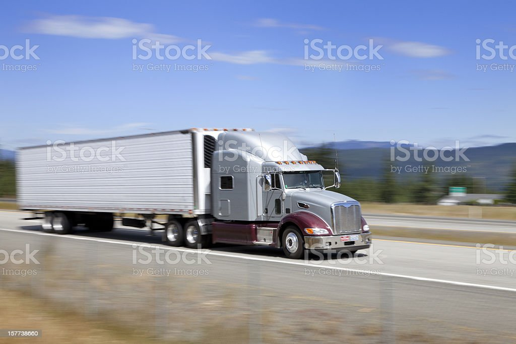 Truck on the highway royalty-free stock photo