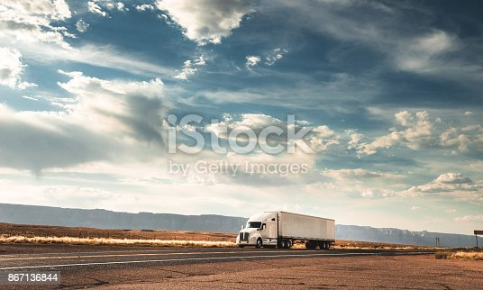 truck on the road on the route 66