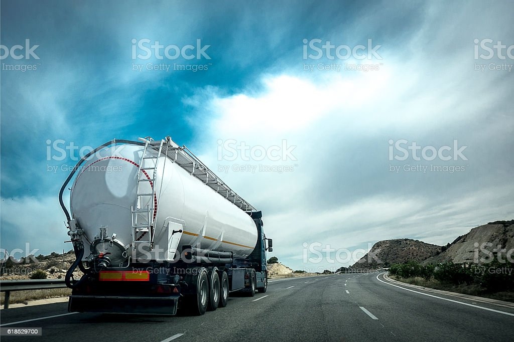 Truck on the road. royalty-free stock photo