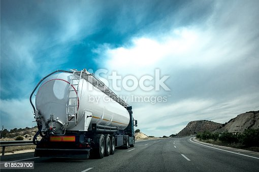 istock Truck on the road. 618529700