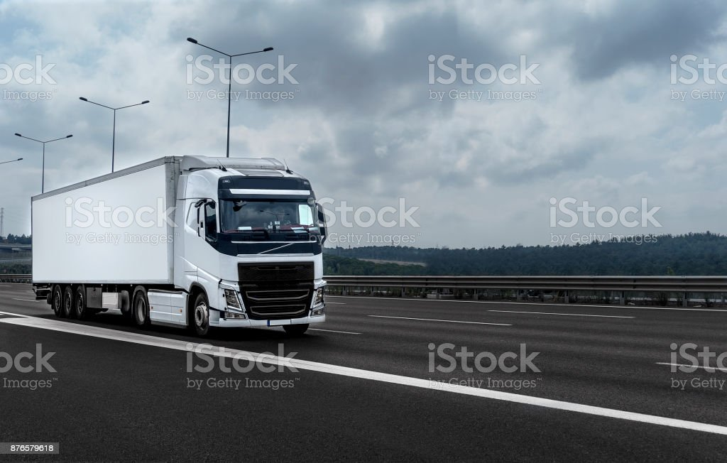 Truck on the Road stock photo