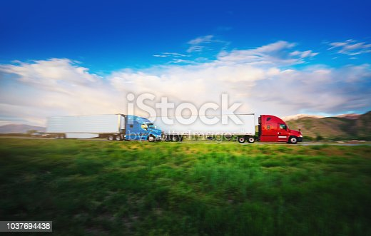 Truck on the road Utah, USA