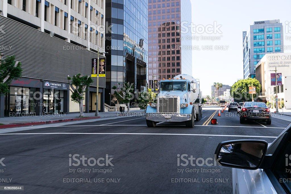 Truck on the street. stock photo