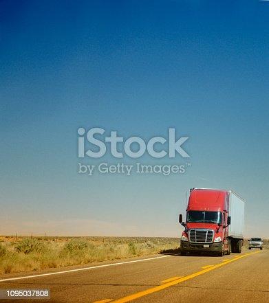 Truck on USA Highway, California