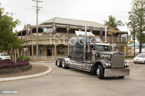 Casino, NSW, Australia - August 17, 2013: Local Casino residents gather on the street to watch trucks pass by as park of the annual Casino Truck Parade and Show.