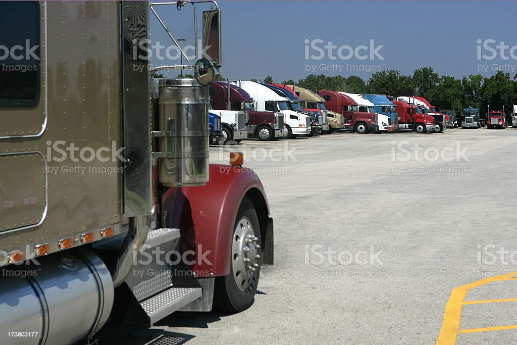 Truck Parking Only stock photo