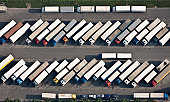 Truck parking place from above.
