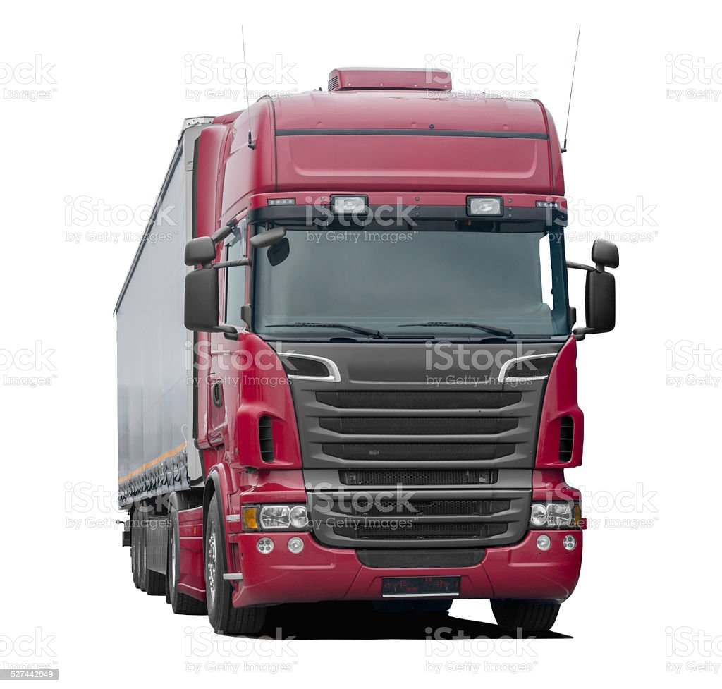 Truck (red) stock photo