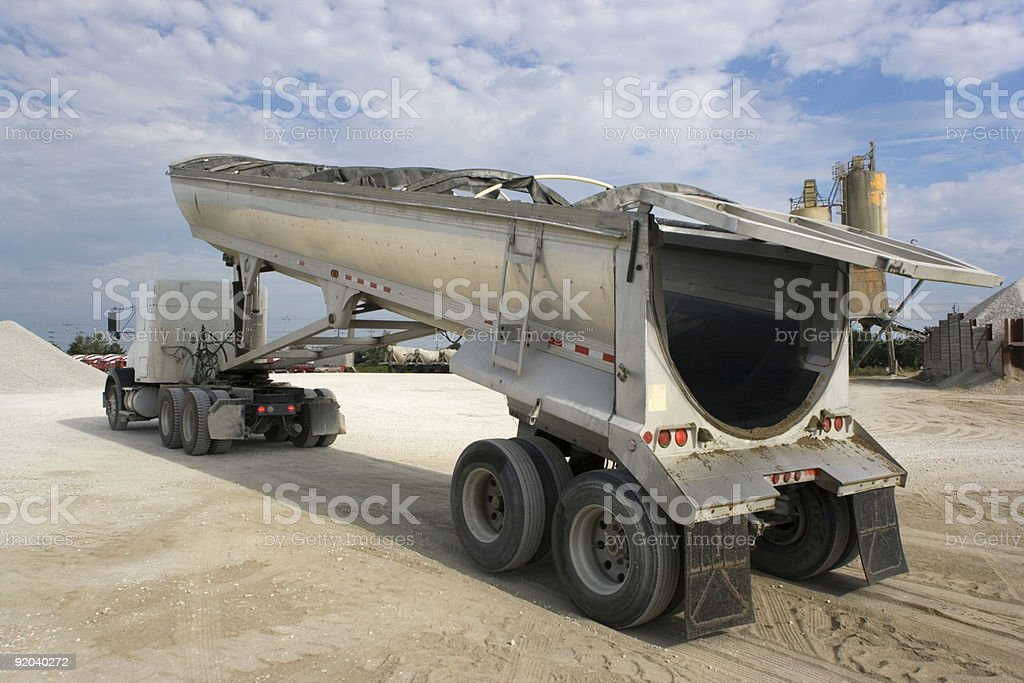 Truck ready for unloading stock photo