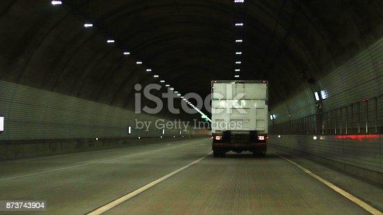 istock A truck running through a tunnel 873743904