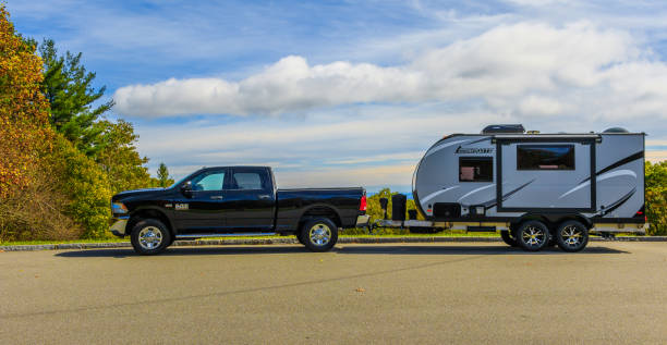 Truck & RV trailer stock photo