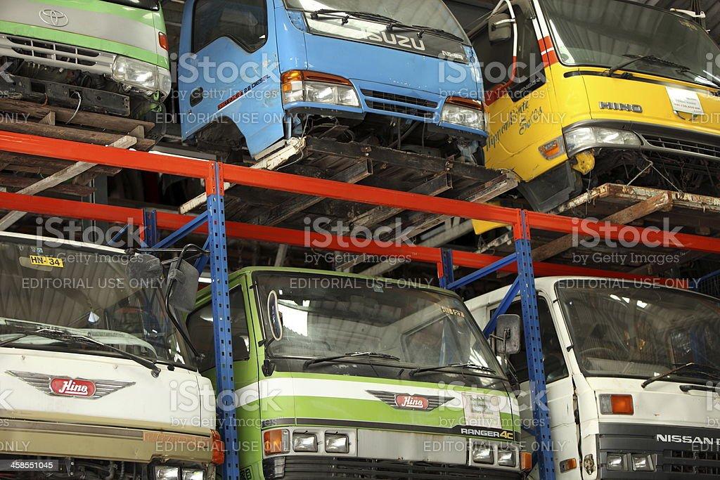 Truck Scrap Yard in thailand royalty-free stock photo