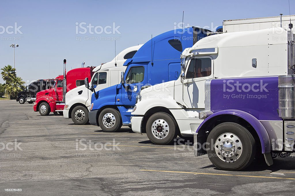 Truck Stop royalty-free stock photo