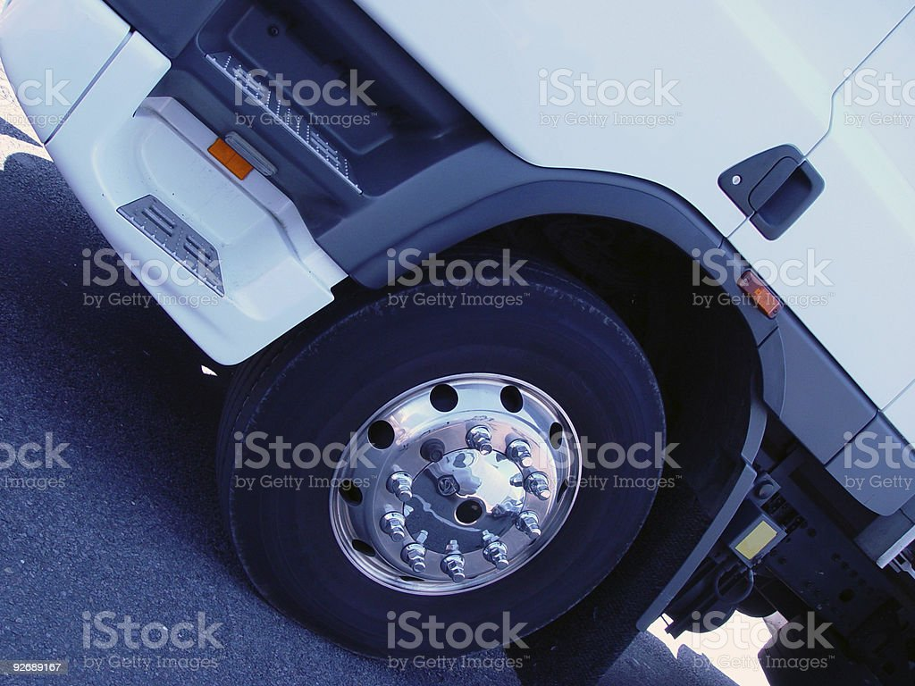 Truck tire royalty-free stock photo