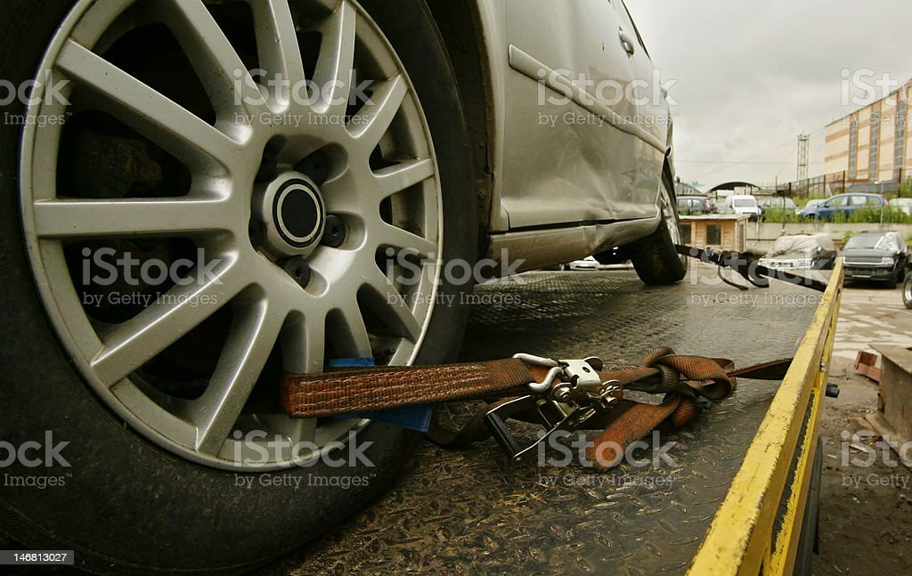 truck tow stock photo